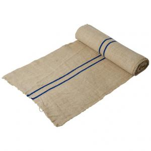 Roll of rustic French canvas fabric for upholstery