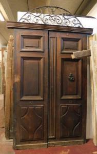 ptci503 - puerta en nogal, tamaño cm 185 xh 295