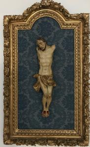 Christ end 1600 First 700 en marco de madera dorada del final de 700 medidas 85cm x 51cm