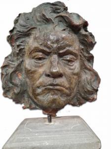 Escultura que representa a LV Beethoven