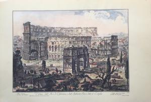 """View of the Arch of Constantine and of the Flavio Amphitheater"" - late 19th century - Piranesi press"