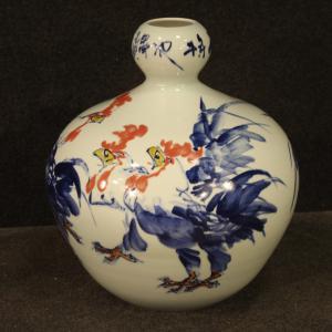 Vaso cinese in ceramica dipinta