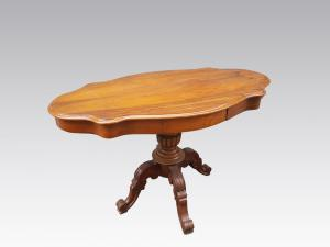 Antique 800 French walnut biscuit table