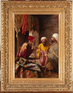 东方主义画作《地毯商人》