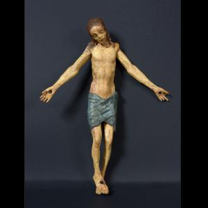 Polychromes Kruzifix mit beweglichen Armen, Toskana 16. Jahrhundert