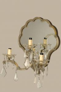 Applique di Murano vintage a tre luci