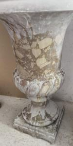 pair of crater marble vases