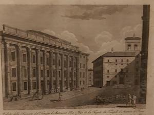 "Engraving Sheet taken from the volume ""Collection"" Ancient city views of Rome"
