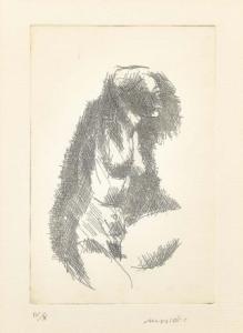 """Nudo"" - Grabado de Ennio Morlotti edición 4/10, Grabado de Ennio Morlotti edición 4/10"
