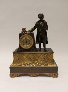 Orologio con bronzo di Napoleone metà XIX secolo