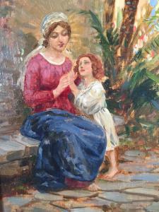 Giuseppe Grassis (Torino 1870 -1949), dipinto olio su tavoletta