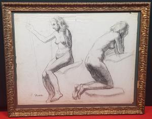 ARTURO DAZZI(1881-1966)技术制图铅笔图