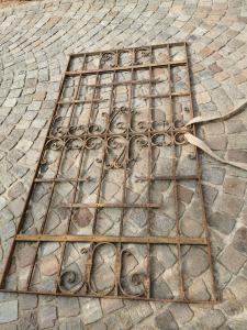 ancient iron grate
