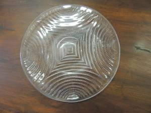 glass plate signed Lalique, 50s, 27cm
