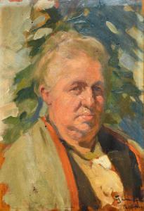 """""""老妇的肖像""""-菲利波·奥梅尼亚(Filippo Omegna)的油在面板上,菲利波·奥梅尼亚(Filippo Omegna)的油在面板上"""
