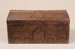Старинная французская деревянная шкатулка