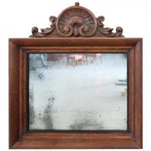 Specchiera antica in castagno raffinato intaglio Sec. XIX PREZZO TRATTABILE