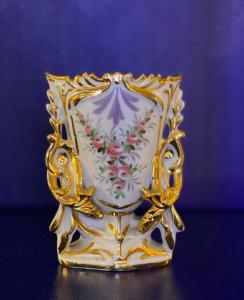 Jarrón de porcelana Italia segunda mitad del siglo XIX