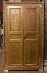 pts749 - n. 5 puertas, segunda mitad del siglo XIX, cm l 130 xh 227