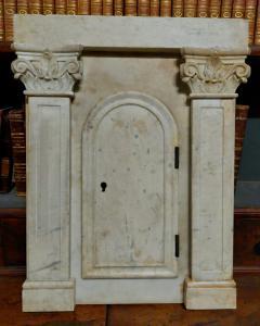 dars441 - 大理石帐幕门,19 世纪,测量。厘米 l 42 xh 53