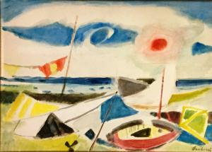 Paulucci Enrico- Beach with boats