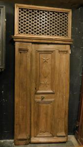 pti674 - porta in rovere, epoca '700, Francia, cm l 112 x h 276