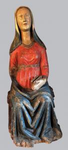Scultura lignea raffigurante La Madonna dell'Annunciazione