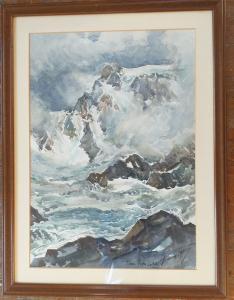 Monte Rosa Aquarell