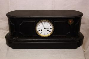 Table clock in 19th century marble