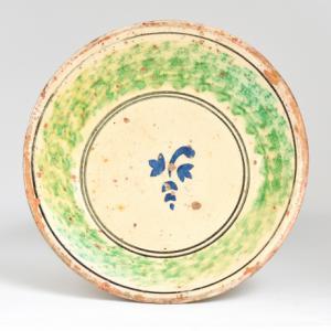 Antico piatto siciliano in ceramica, Ancient Sicilian ceramic plate