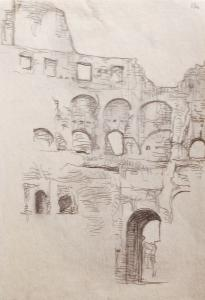 Giannino Marchig, Scorcio interno del Colosseo, 1917