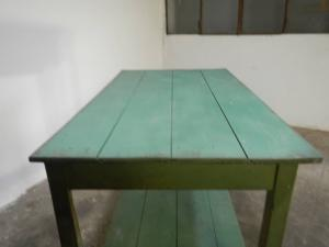 fir wood counter with two 50s floors