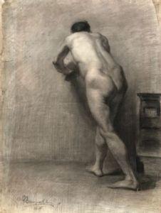 Escuela de español (principios del siglo XX) - Desnudo masculino