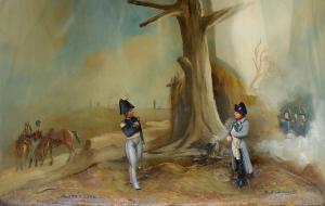 Diorama: Napoleón en Austerlitz, siglo XIX