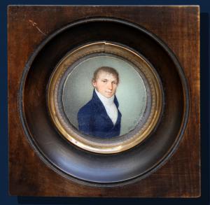 Питер Майр (1758-1836), Портрет молодого человека, Масляная миниатюра