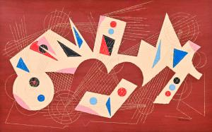 """Mischtechnik """"Komposition"""" / Karton von Umberto Mastroianni, Mischtechnik """"Komposition"""" / Karton von Umberto Mastroianni"""