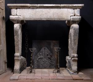 chp288 chimenea de piedra gótica medidas. cm 230 xh 215