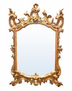 Espelho rococó dourado '700, Espelho rococó dourado' 700