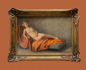 查尔斯·曼西(Charles Manciet)(1874-1963)-斜倚裸体