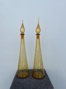 "一对大型""balloton""吹制玻璃瓶 Seguso 玻璃器皿 Murano。"