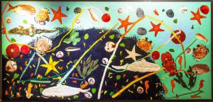 """""""Genetic Fusions"""" - Plastic on wooden panel by Omar Aprile Ronda, Plastic on wooden panel by Omar Aprile Ronda"""