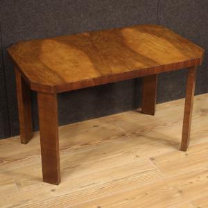 Tavolino italiano in legno di noce in stile Art Deco