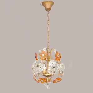 Lampadario a margherite '40, Chandelier with dasies 40s