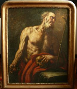 "Bartolomeo Gennari, ""San Gerolamo in preghiera""."