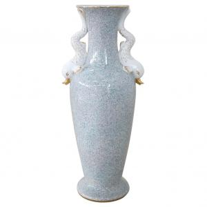 Large porcelain vase made in Italy 1980