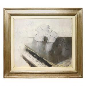"""Dipinto olio su tela Franco Rognoni (1913-1999) """"Suonata a Kreutzer"""" PREZZO TRATTABILE"""