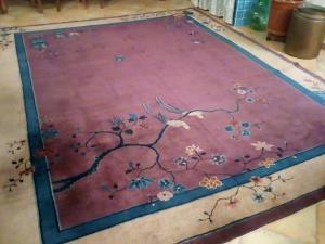 Chinesischer Teppich, 1920er Jahre, 348 x 282 cm.