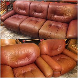 Mobilgirgi 70er Leder Lounge