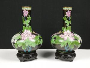 VESSELS IN CLOISONNE Oriental ZI Jin CHENG