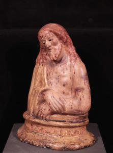 """Escultura em papel machê policromada """"Ecce Homo"""", Toscana, século XVIII"""